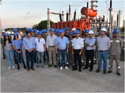 Peppo inauguró una estación transformadora en la que se invirtieron casi 700 millones de pesos