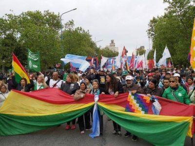 Contundente apoyo en Mar del Plata a Evo Morales