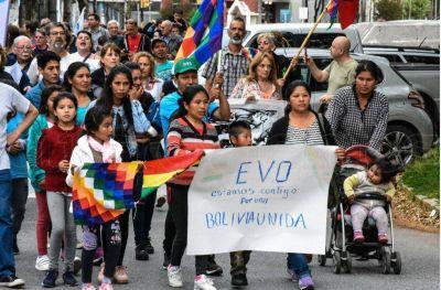 Marcharon en el centro contra el golpe de Estado en Bolivia