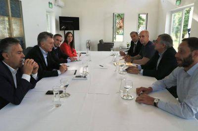 Mauricio Macri, María Eugenia Vidal, Horacio Rodríguez Larreta, Miguel Pichetto y Alfredo Cornejo, sin Marcos Peña, lanzaron la mesa opositora