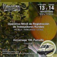 El RENATRE realiza operativos de registró de trabajadores en Tucumán y Mendoza