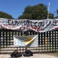 Manifestación de los guardavidas del Sur en la Ruta 11 por inclumplientos laborales en balnearios