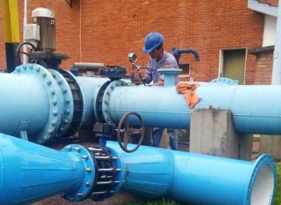 Samsa realiza inversiones en obras de agua para Posadas