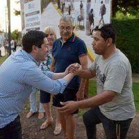 Nardini inauguró una nueva obra de pavimento en Tortuguitas