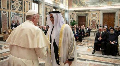 El Papa firma una declaración sobre la salud mundial con el Príncipe de Abu Dhabi