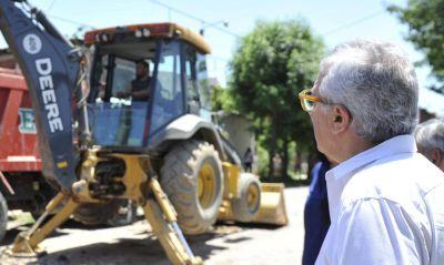 Julio Zamora supervisó el avance de nuevas obras en Don Torcuato