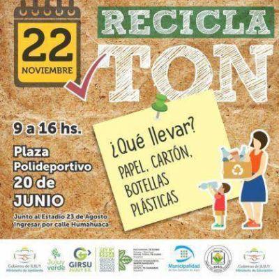 Recibirán papel, cartón y plástico para su reciclado en la 7ma RECICLATÓN