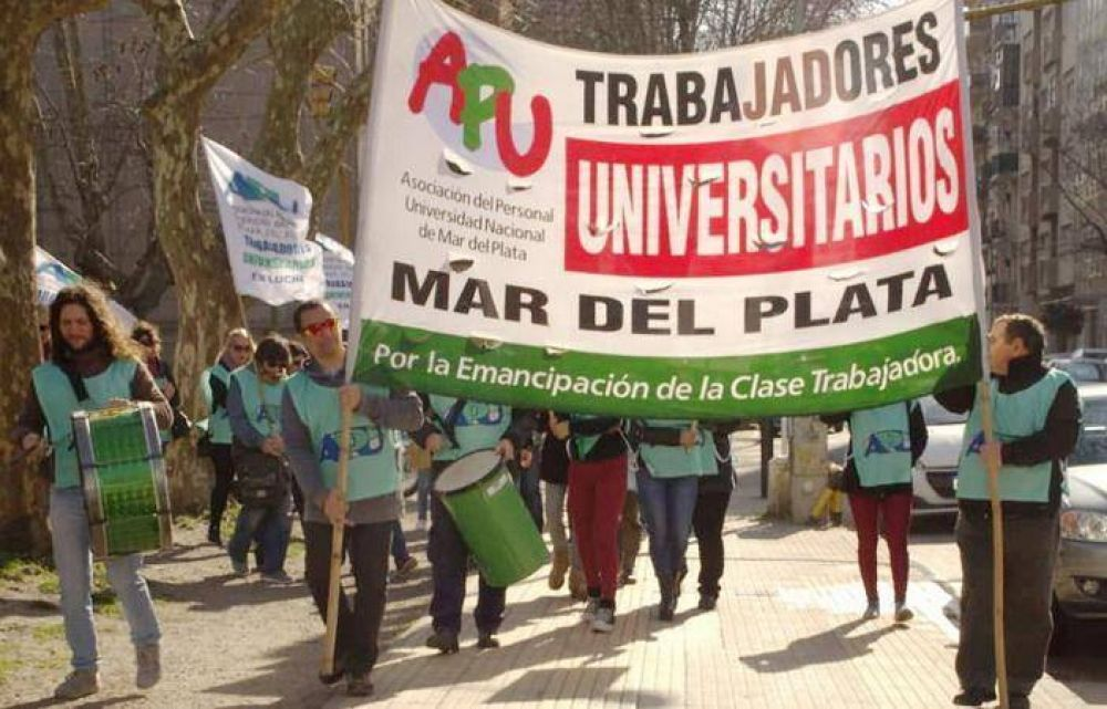 APU en pie de guerra contra autoridades municipales se movilizan ante el Rectorado