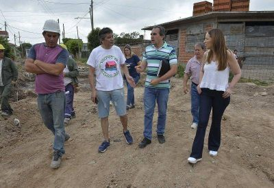 Tras la crítica de Magario, Vidal volvió a La Matanza para recorrer una obra hídrica