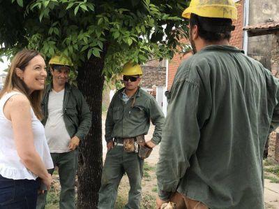 """Vidal recorrió obras hidráulicas en La Matanza: """"Son respuestas concretas que generan confianza"""""""