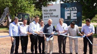 La provincia inauguró obras hídricas para Firmat