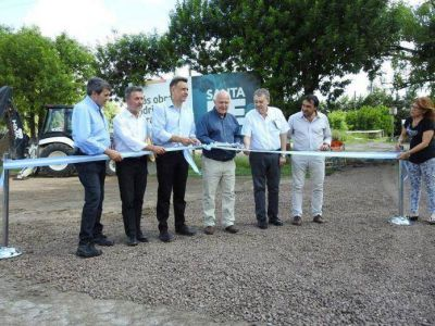 Firmat: se inauguraron obras hídricas con presencia del Gobernador
