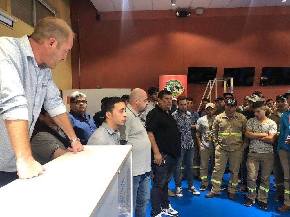 El interventor del SUPA San Martín escuchó en asamblea a los trabajadores estibadores