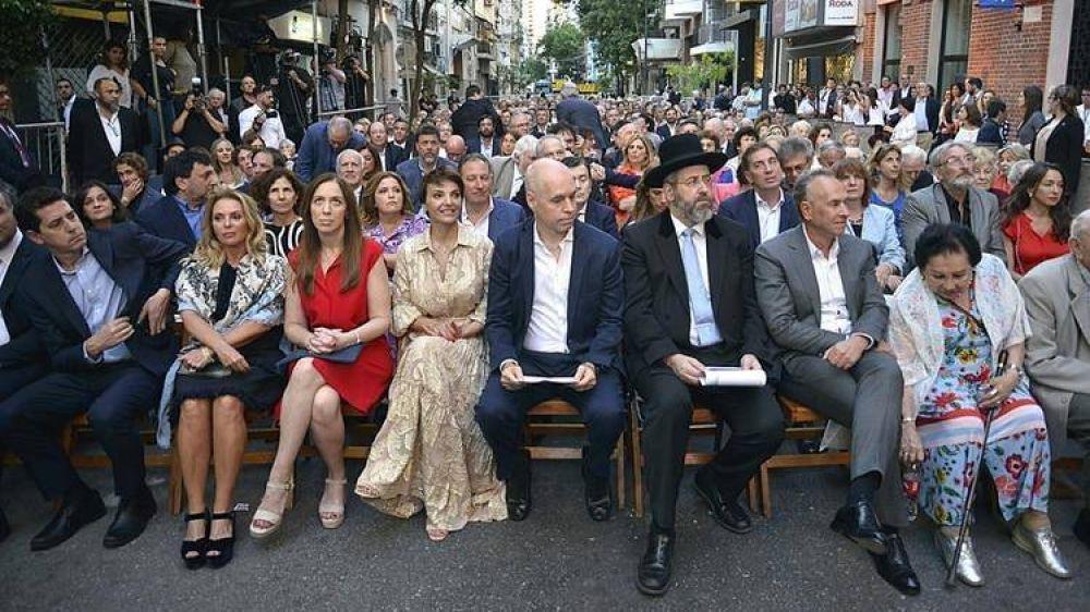 El Museo del Holocausto reabrió sus puertas con la participación de dirigentes de todo el arco político