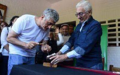 Gesell: Barrera participó del cincelado de bastón presidencial de Alberto Fernández