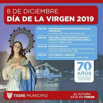 Tigre se prepara para los festejos del 70° aniversario del Día de la Virgen
