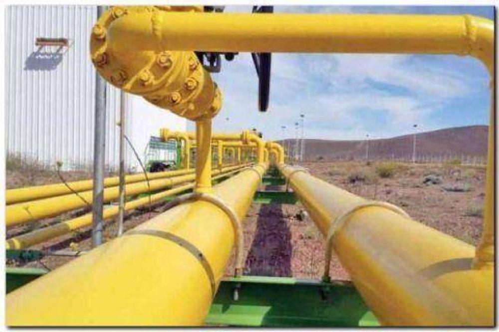 Las obras del gasoducto paralizadas