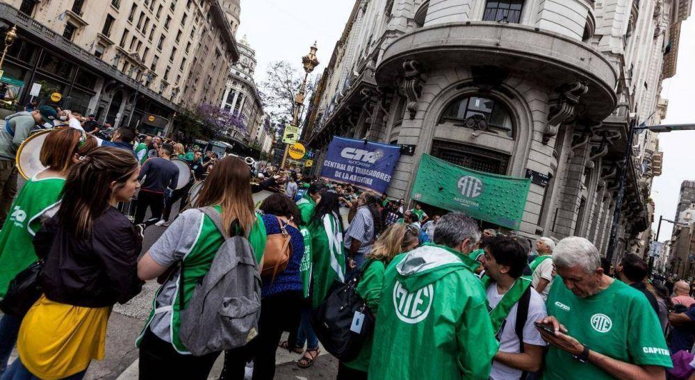 ATE marchó a Modernización para rechazar decreto que blinda a funcionarios de Macri y UPCN en el Estado