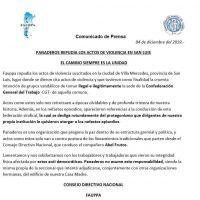 Panaderos se despegó de la toma de la CGT San Luis y acusó