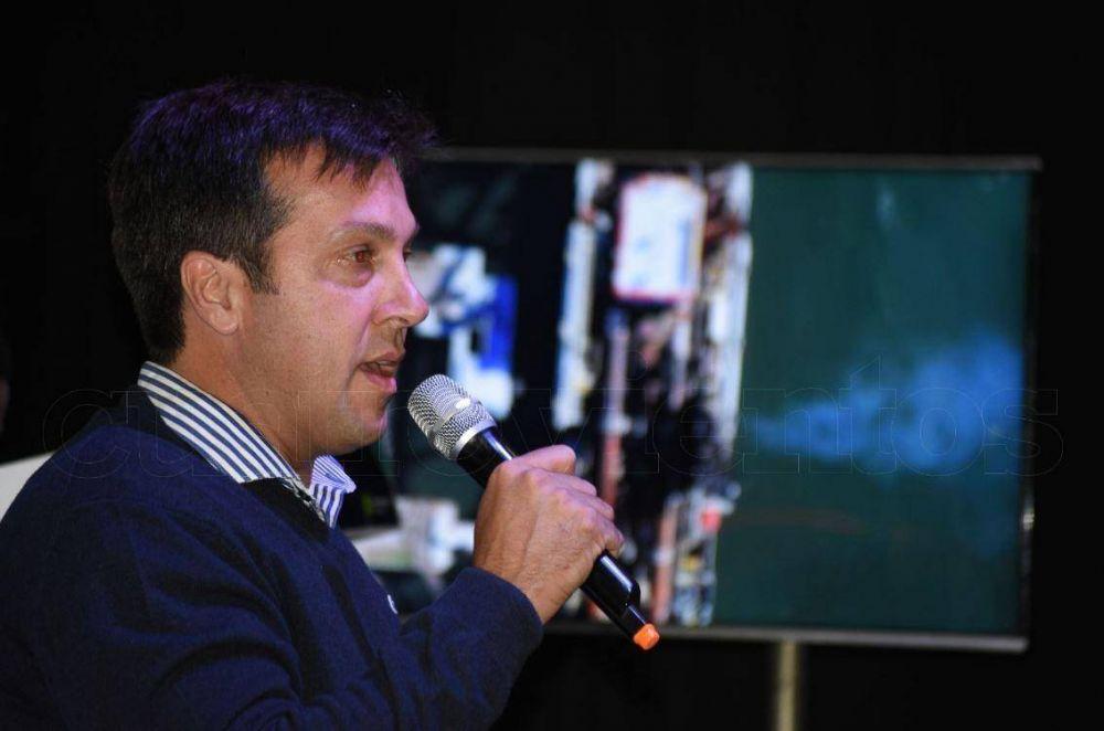 Rojas presentó el fin de la obra de profundización y se despidió del Consorcio de Puerto Quequén
