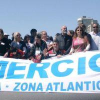 Mercantiles realizaron la Primer Caminata por la Integración en el Paseo Saludable