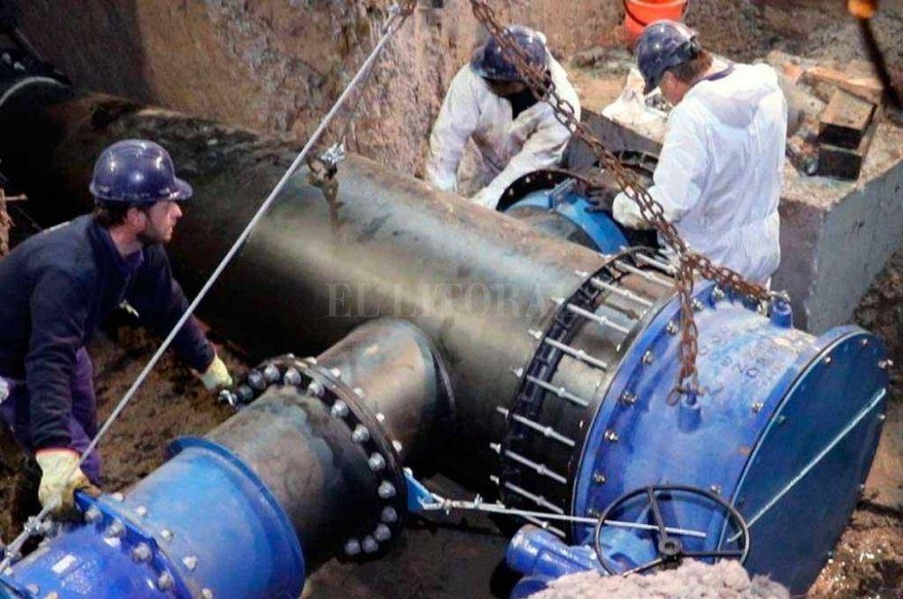 Reconquista comenzará a recibir agua potable desde la planta del nuevo acueducto