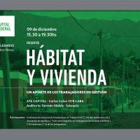 Primer Encuentro de Hábitat y Vivienda organizado por les trabajadores en gestión