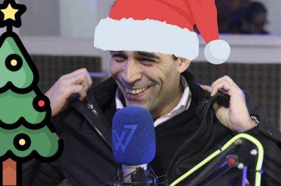 Facundo López se llevó hasta el arbolito de Navidad