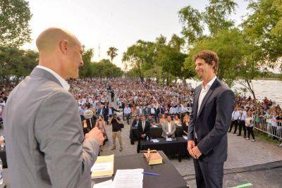 San Fernando: Juró Juan Andreotti en la inauguración de la nueva Costanera Municipal