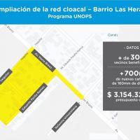 """OSSE licita la ampliación de la red cloacal en barrio """"Las Heras"""""""