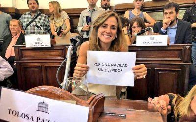 """Victoria Tolosa Paz: """"Me hubiese gustado lograr una síntesis pero no me asustan los interbloques"""""""