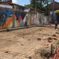 Avanzan las obras en el centro vecinal sustentable de barrio Juniors