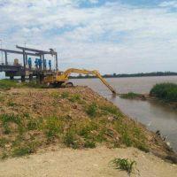 Trabajos en la Toma Nueva para mejorar la captación de agua