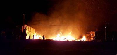 Las llamas ocasionaron pérdidas totales a Eco Madera