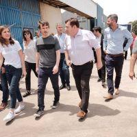 Montenegro y Raverta recorrieron el Parque Industrial