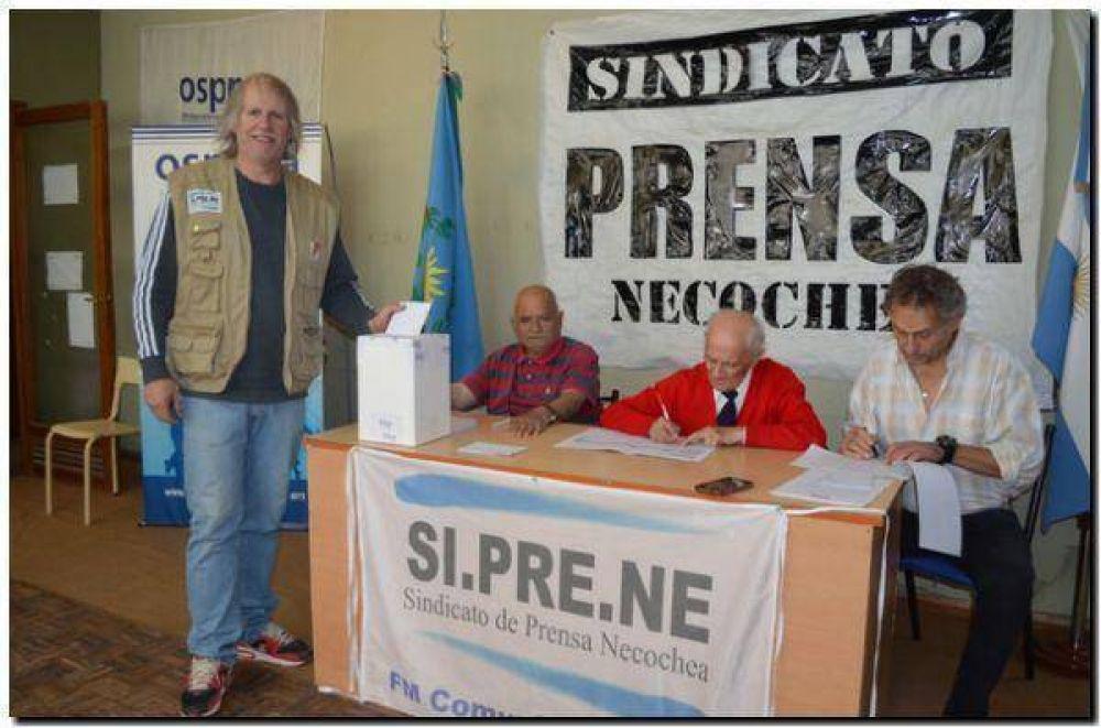 Marcelo Giordano, reelecto en el Sindicato de Prensa Necochea
