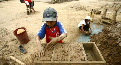 Un estudio de la OIT relevó que en 51 departamentos del país el trabajo infantil supera el 8%