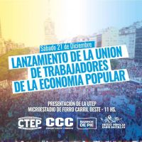 La Unión de Trabajadores de la Economía Popular será realidad efectiva a partir del próximo 21 de diciembre