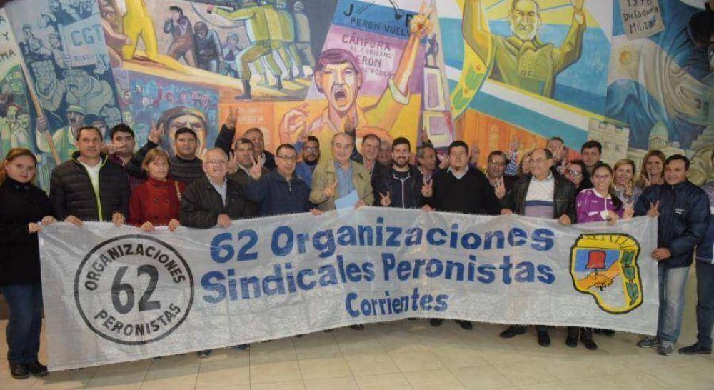 Las 62 Organizaciones Peronistas piden imprimir en Corrientes el rumbo nacional