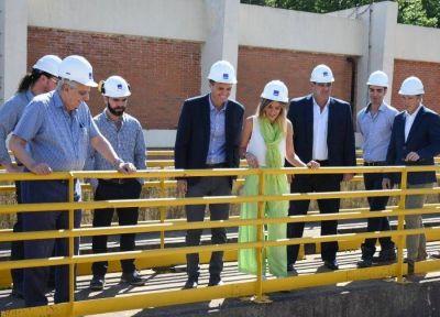 Galmarini y Katopodis recorrieron la Planta Potabilizadora General San Martín de AySA