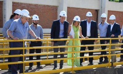 Katopodis, Galmarini y Nardini recorrieron la principal planta potabilizadora de AySA