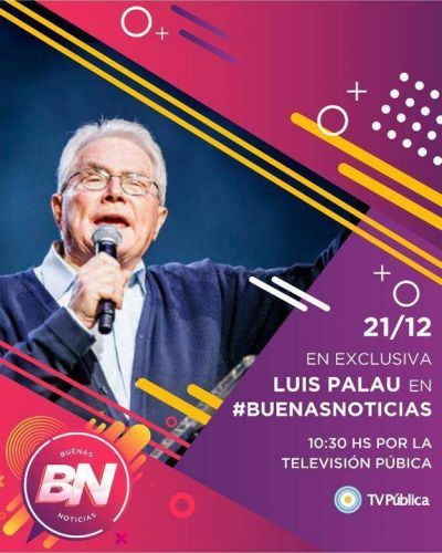 Este sábado Luis Palau en