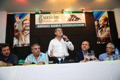 La Unión Ferroviaria despidió el año en Santa Fe junto a Omar Perotti