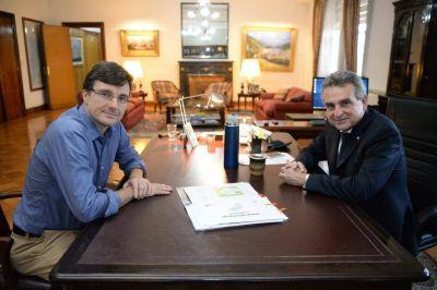 Lucas Ghi se reunió con Agustín Rossi