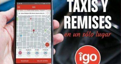 IGO pasajero: la aplicación que utilizan los remiseros y taxista en Merlo