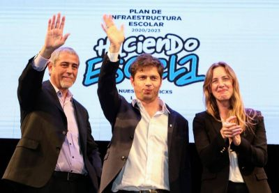 Kicillof entregó subsidios para infraestructura educativa en Avellaneda junto con Ferraresi