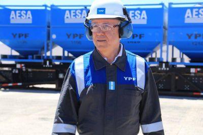 Nielsen visitó Vaca Muerta por primera vez como presidente de la petrolera