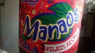 Anmat retira del mercado tres lotes de la gaseosa cola Manaos