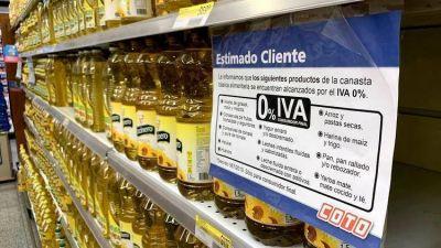El miércoles vence la eliminación del IVA para los alimentos de la canasta básica y el Gobierno negocia alternativas para evitar que se disparen los precios