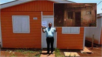El Iprodha le entregó una nueva vivienda a una familia posadeña que fue víctima de un trágico incendio